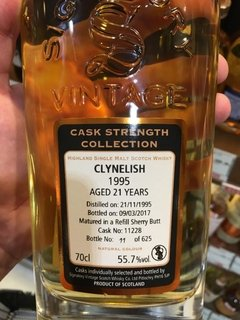 Whisky Clynelish 1995 21 Años Signatory Cask Strength 55,7%abv - Todo Whisky