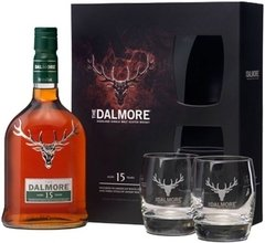Whisky Single Malt The Dalmore 15 Años Gift Pack + 2 Vasos.