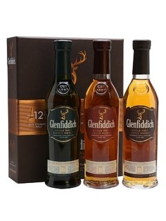 Whisky Glenfiddich Explorer's Collection + Copa Glencairn Origen Escocia.