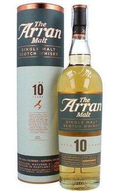 Whisky Single Malt Arran 10 Años, 700ml. En Estuche.