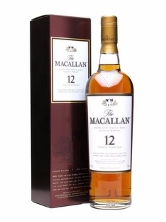 Whisky Single Malt The Macallan 12 Años Sherry Cask.