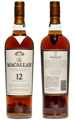Whisky Single Malt The Macallan 12 Años Sherry Oak Cask. - comprar online