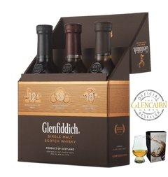 Whisky Glenfiddich Explorer's Collection + Copa Glencairn Origen Escocia. en internet