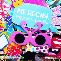 Kit para Photobooth Egresos - Colaciones - Recibidas
