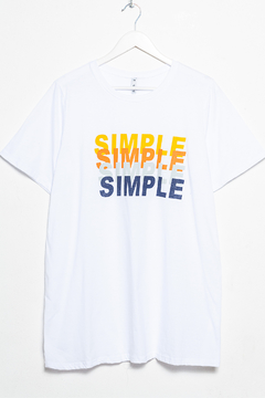 R1124/2/F Syes, Remera algodón SIMPLE, Talles grandes