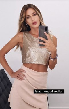 Crop top de pailletes MURIEL III