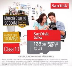 Memoria Micro Sd 128 Gb Ultra SANDISK 100 Original Clase 10 100mb/s - Shoppingame