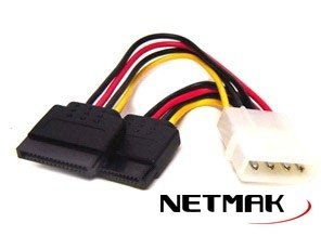 Cable Sata Power Netmak de 1 a 2 Sata NM-C07