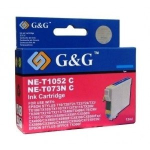 Cartucho EPSON T0472 CYAN XL 8ml G&G
