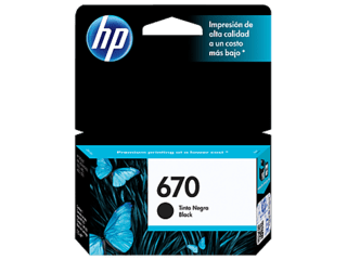 Cartucho HP 670 NEGRO Original