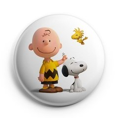 Boton Snoopy Charlie Brown Woodstock