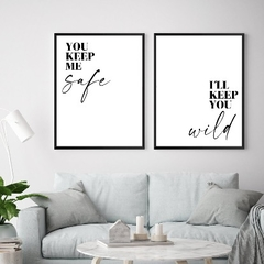 Set Cuadros  You keep me (30x40 c/u)
