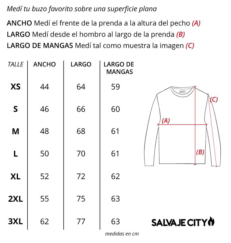 Tabla de talles sweater jasper fw 21