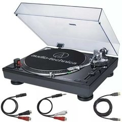 Audio Technica At Lp 120 Bk Usb Bandeja Tocadiscos Vinilo - circularsound
