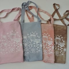 Tote Bag XL Teñida con Estampa Tulipanes