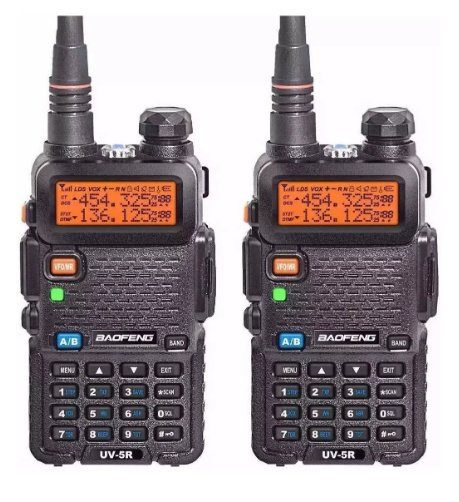 Kit 2 Rádio Ht Digital Policia Dual Band Baofeng 128 Canais