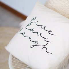 Almohadon 'Live Love Laugh' - Canvas Home