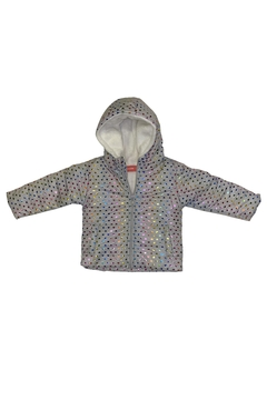 Campera estampada corazones foil (ART 1240) - Mission Junior