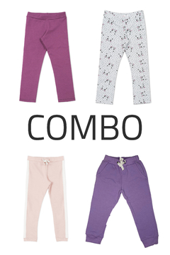 4 Calzas frisadas o Joggings  - Kids Girls (Combo 4)