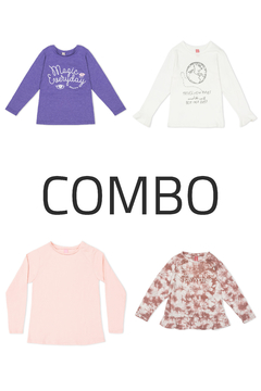 4 Remeras - Junior Girls (Combo 39)