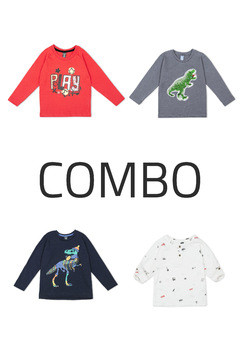 4 Remeras - Kids Boys (Combo 61)