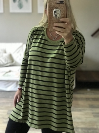 Sweater stripes verde