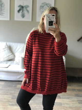 Maxi sweater stripes