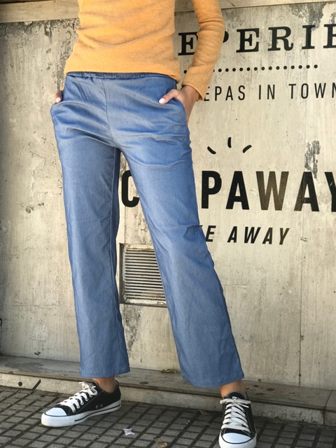 pantalon Bruselas color jean claro