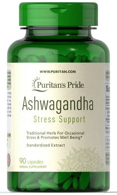 Ashwagandha Stress Support 750mg (90 Caps) - Puritan's Pride