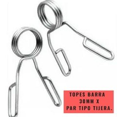 Topes Barra 30 mm tipo tijera (por par) - MM Fitness