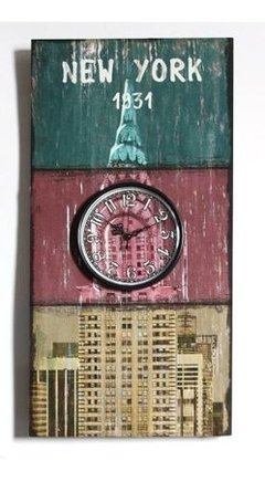RELOJ DE PARED PARIS - NEW YORK
