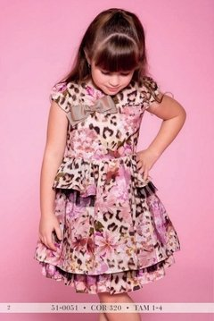 Vestido Estampado Miss Cake Doce Princesa Animal Print 510051