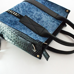 "Mía Mini Tote ""All Denim"" - comprar online"