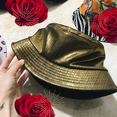 golden bucket hat