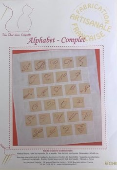 Ref 121 - Kit Bordado Alphabet Complet