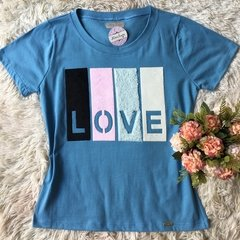 T-shirt gola careca manga curta COLOR LOVE