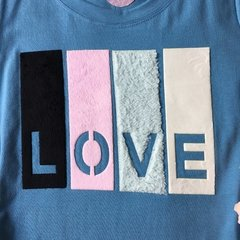 T-shirt gola careca manga curta COLOR LOVE - comprar online