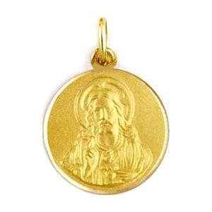 Medalla de oro 18 Kilates Sagrado Corazon 10mm #MED0248
