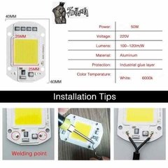 Led Cob 50w Nuevo Tension 220v B. Frio Pack X20 Javilandia en internet