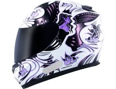 CAPACETE MT BLADE BUTTERFLY WHITE/PINK