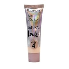 Base Líquida Natural Look Bege 4 - Ruby Rose (HB 8051/2 Cor 04)