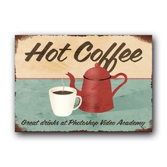 Quadro Decorativo Hot Coffee
