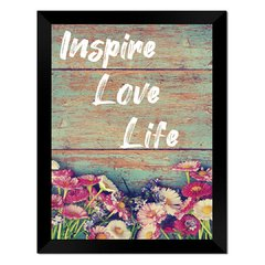 Quadro Decorativo Inspire Love Life na internet