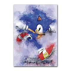 Quadro Decorativo Sonic Aquarela