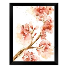 Quadro Decorativo Flor Aquarela Salmão na internet
