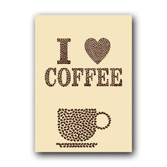 Quadro Decorativo I Love Coffee