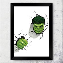 Quadro Decorativo Hulk Face 3D na internet