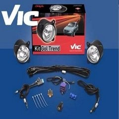 Faros Auxiliares Gol Trend/voyage 08/12 Kit Compl. S/rejas