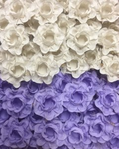 Image of Fabric Flower Wrappers for Wedding Sweets Ísis (30 pieces)