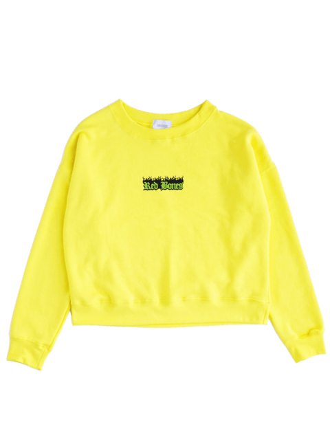 BURNING LOGO CREWNECK